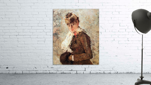 Winter (woman with Muff) by Morisot