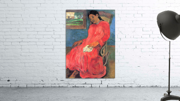 Woman in Red Dress by Gauguin