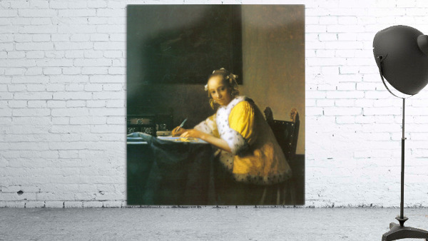 Woman in yellow by Vermeer