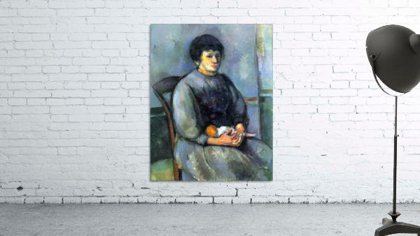 Woman with Doll by Cezanne