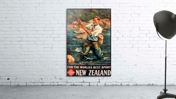 New Zealand Original Vintage Travel Poster