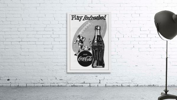 1952 Vintage Coke Football Ad Poster