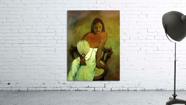 Young Girl with Fan by Gauguin