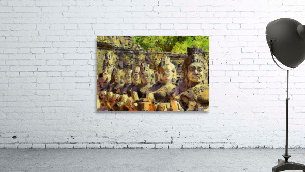 CAMBODIA Angkor Wat oil painting in Vincent van Gogh style. 141