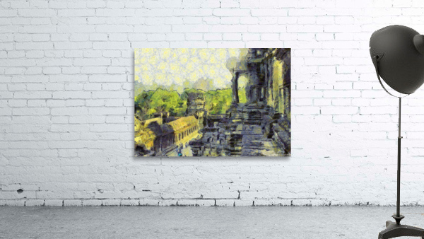 CAMBODIA Angkor Wat oil painting in Vincent van Gogh style. 130