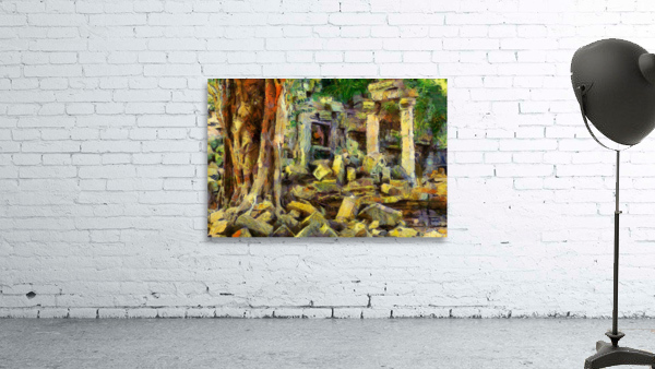 CAMBODIA Angkor Wat oil painting in Vincent van Gogh style. 148