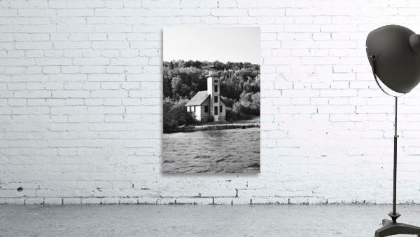 Grand Island Light house BW