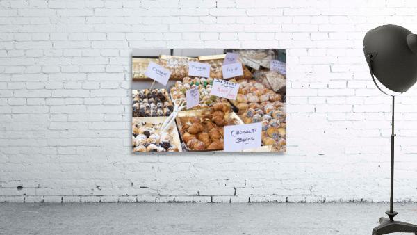 Desserts at market in France