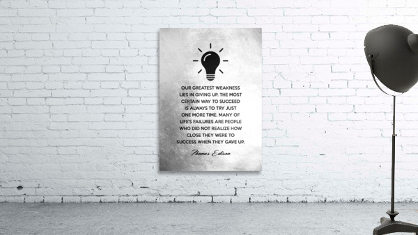 Thomas Edison Motivational Wall Art