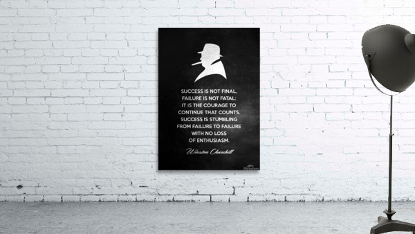 Winston Churchill Motivational Wall Art
