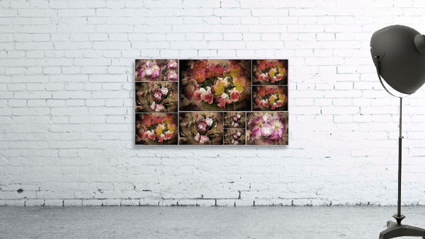 Vintage Floral Imaginings Collage