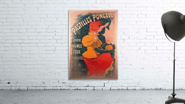 Original 1896 Lithograph Poster Pastilles Poncelet