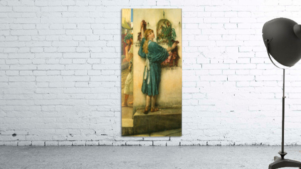 A road altar by Alma-Tadema