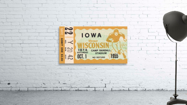 1955 Iowa Hawkeyes vs. Wisconsin Badgers