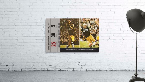 1971 Notre Dame vs. North Carolina Football Ticket Canvas