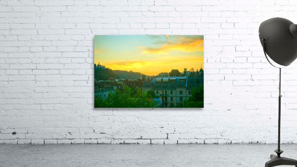 Sunset over Lucerne Switzerland