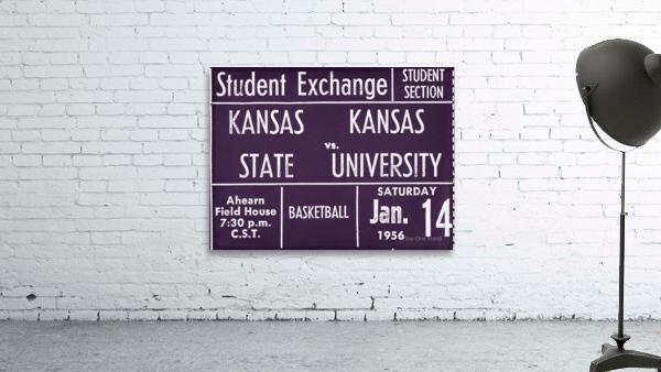 1956 Kansas State vs. Kansas Basketball Ticket Remix Art