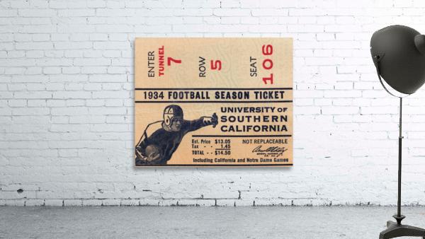 1934 USC Football Season Ticket