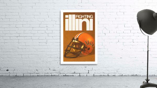 1980 Illinois Illini Football Poster