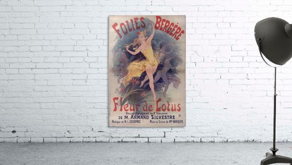 Folies Bergere Fleur de Lotus Poster