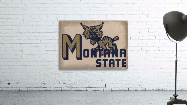 Vintage Montana State Bobcat Art