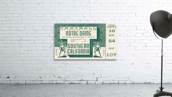 1942 USC vs. Notre Dame Football Ticket Canvas