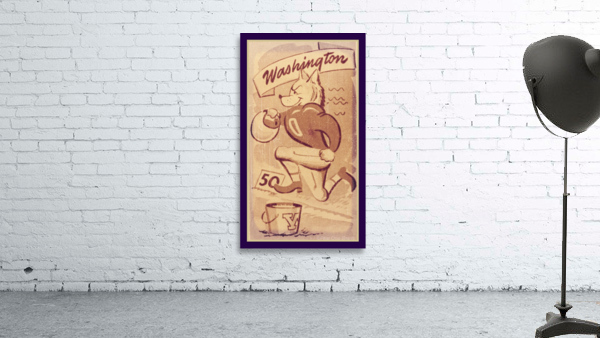 Vintage Washington Husky Football Cartoon