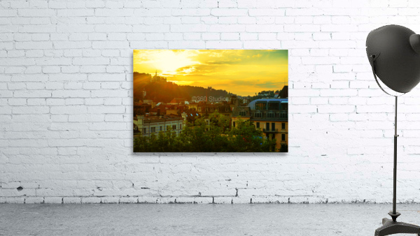 Summer Sunset over Lucerne Switzerland