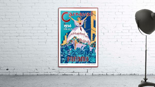 Carnaval de 1936 Panama Vintage Travel Poster
