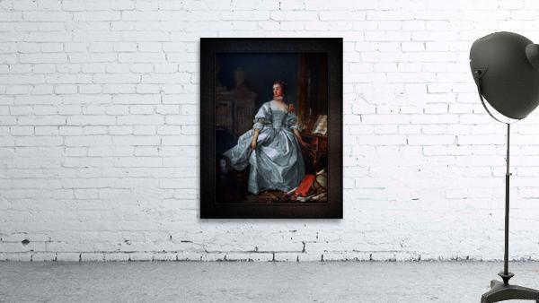 La Marquise de Pompadour by Francois Boucher Classical Fine Art Xzendor7 Old Masters Reproductions