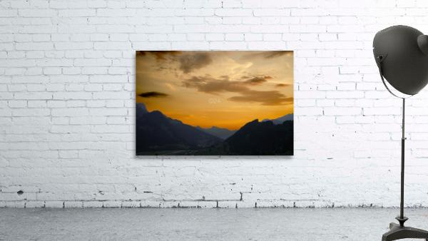 Sunset in the Saanen Valley in Switzerland