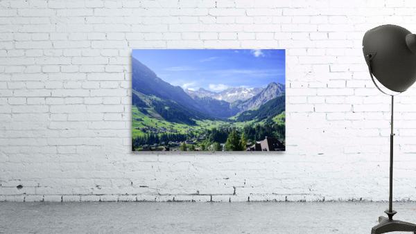 Blue Skies over the Alps in Adelboden Switzerland