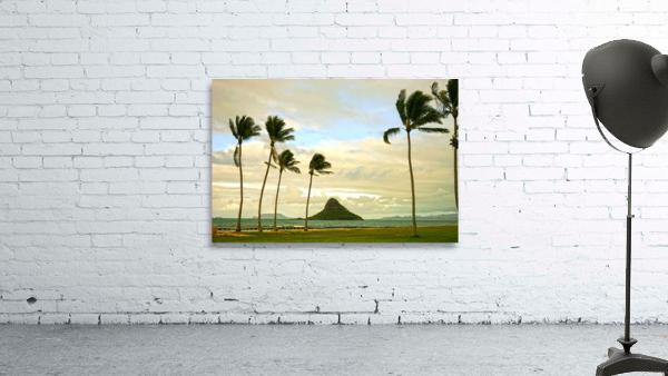 The Island of Mokoli  i from Oahu at Sunset