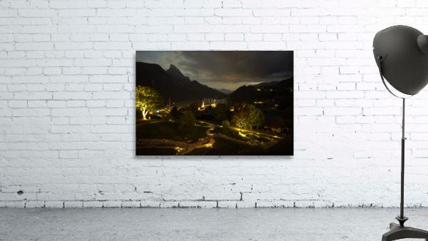 Night Arrives in the Saanen Valley in Switzerland