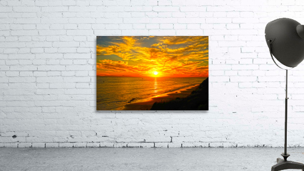 Sunset over Catalina Island in Newport Beach California