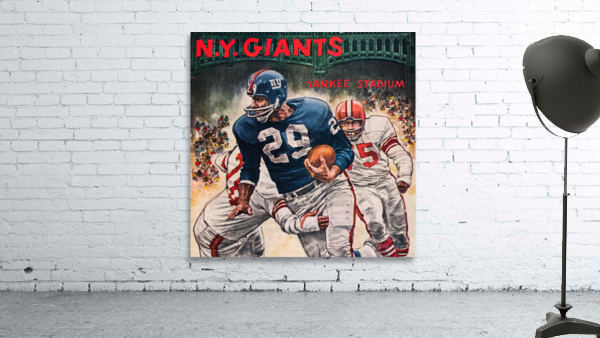 1962 Robert Riger New York Giants Art