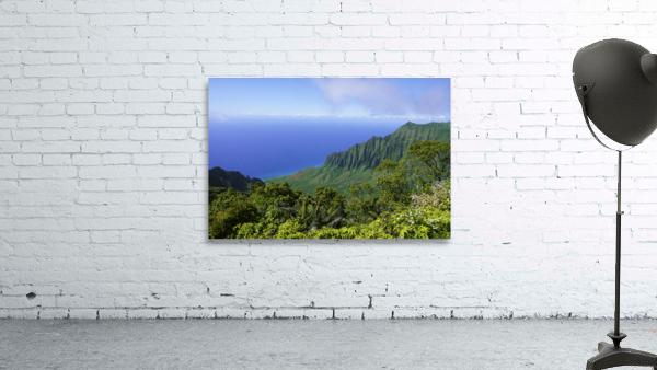 Blue Skies Puu O Kila Lookout Kohala Mountains on the Island of Kauai in Hawaii