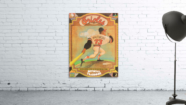 1973 Baltimore Orioles Yearbook Poster