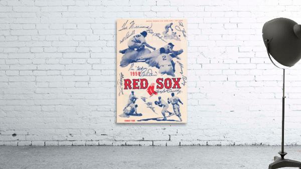 1950 Boston Red Sox Score Book Canvas Art