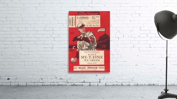1933 Detroit Tigers Score Card Art