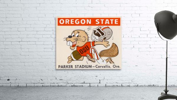 1970 Oregon State Beaver Ticket Stub Remix Art
