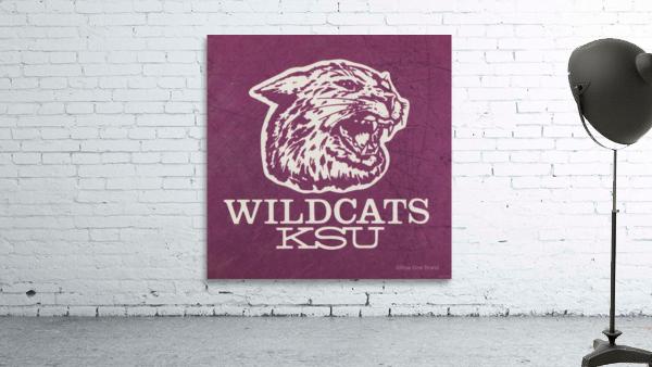 Retro Eighties KSU Wildcats Art