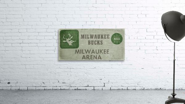 1977 Milwaukee Bucks Ticket Stub Remix Art