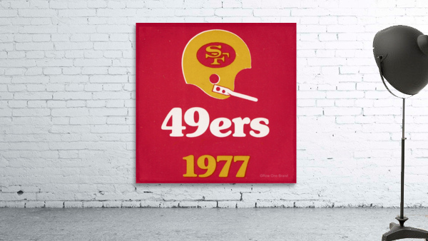 1977 San Francisco 49ers Helmet Art