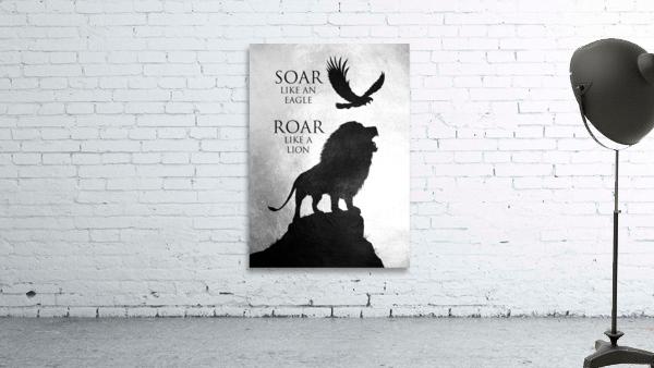 lion and eagle Motivational Wall Art