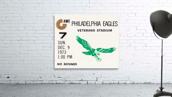 1973 Philadelphia Eagles Ticket Stub Remix Art