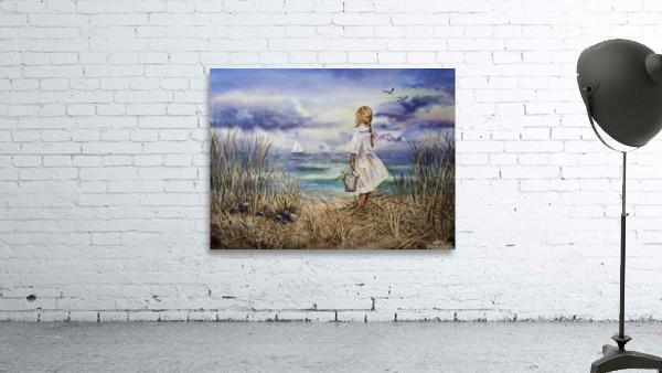 Girl At The Ocean Beach Art Painting