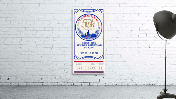 1983 Baseball All-Star Game Ticket Art