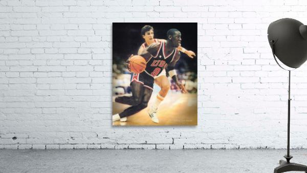 1984 Michael Jordan USA Basketball Art