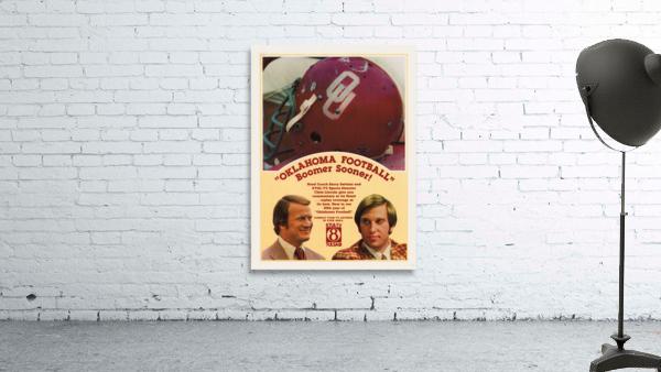 1977 Oklahoma Football Show Ad Barry Switzer